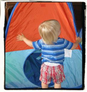 Morning tent fun