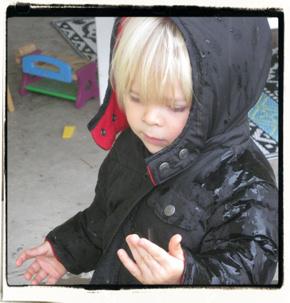 Touching rain