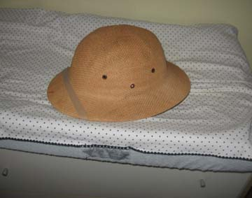 Ye Olde Pith Helmet and Changing Pad! Woots!