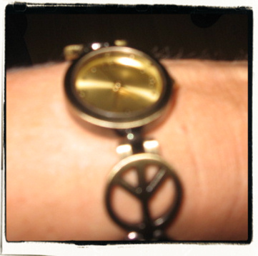Peace wristwatch! Fashion, baby! Fashion!